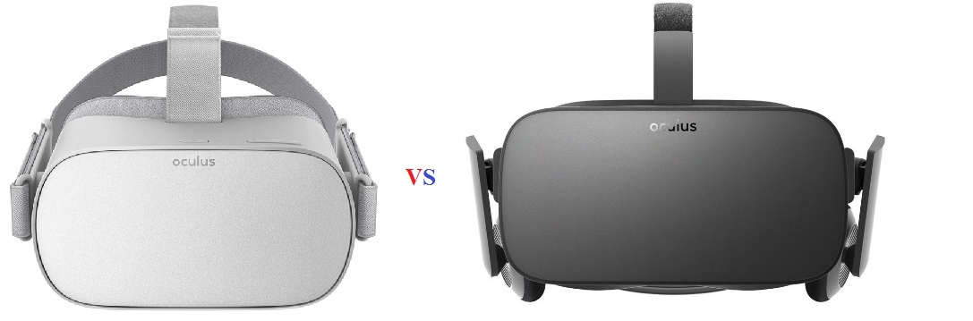 Oculus Go Virtual Reality Headset vs Oculus Rift VR Comparison