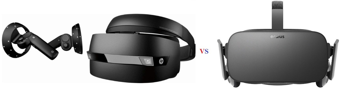 buy hp windows mixed reality headset vs oculus rift reviews